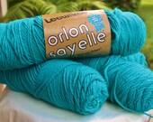 Orlon Sayelle Vintage Yarn Leewards Dark Caribbean color Skein Knitted Worsted 99 gr. DuPont Orlon yarn 4 ply