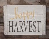 Large Wood Sign - Happy Harvest - Farm House Sign