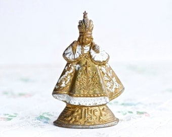 Infant Jesus of Prague - Miniature Pewter Religious Figure