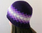 Crochet Pattern ~ All Ages Diamonds Beanie ~ Crochet Pattern