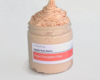 Organic  Moisturizing Body Butter with Organic Pumpkin Oil in  Sugar Pumpkin Chai