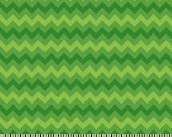 06313 -  Springs Creative Products Quilting Basics Tonal Chevron in Green - 1 yard