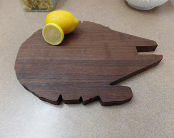 Walnut Star Wars Millennium  Falcon Cutting Board