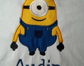 One Eyed Minion Tshirt  - Infant and Toddler Short Sleeve in sizes 12 months to 7