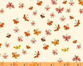 Tiger Lily - Butterflies Cream by Heather Ross from Windham Fabrics