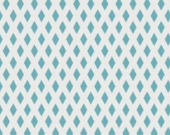 Rise & Shine - Net in Teal from Camelot Cottons