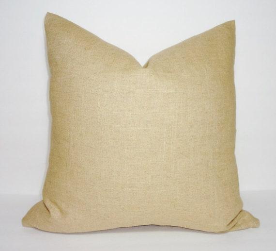Plain Linen Throw Pillow Covers : Solid Tan Linen Pillow Cover Decorative Pillow Cover Throw