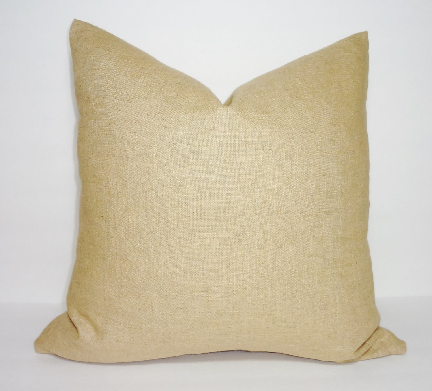 Solid Decorative Throw Pillows : Solid Tan Linen Pillow Cover Decorative Pillow Cover Throw