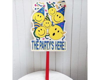Vintage 1980s The Party's Here Yard Signs
