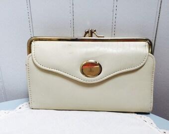 "Vintage 1960s ""R"" Monogram Wallet/Checkbook"