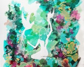 Woodland watercolor art print floral - Meaning Of Eden
