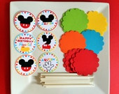 Mickey Mouse Clubhouse DIY Cupcake Topper Kit