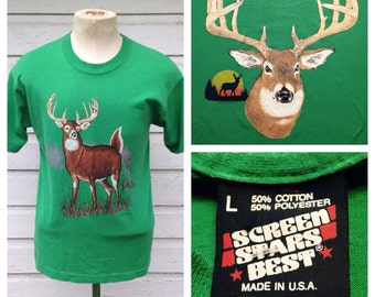 1980's two-sided deer t-shirt, large