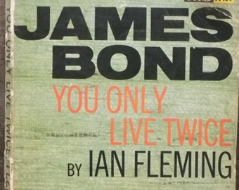 1960s Vintage James Bond book You Only Live Twice Ian Fleming paperback book