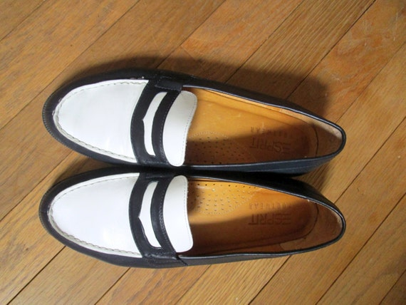 Navy And White Spectator Shoes