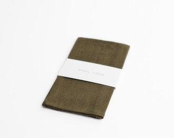 Pocket square in khaki green