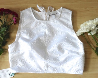 Small and Medium Embossed Crop Top