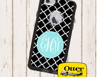 Monogrammed OtterBox Commuter Phone Case, Personalized OtterBox, iPhone 6, 6 Plus, iPhone 5/5S/5C, Galaxy S5 Clover