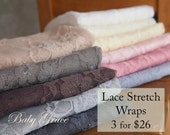 Newborn Wrap Set, Baby Photography Prop, Newborn Stretch Wrap, Newborn Photo Prop, Bundle, Newborn Lace Wrap, Baby Stretch Lace Newborn Wrap
