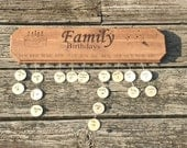 Family Birthday Calendar, Sign, Wall Mounted