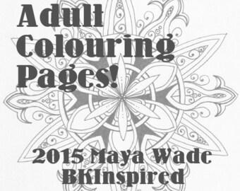 Mandala Zendala Coloring Page Pdf