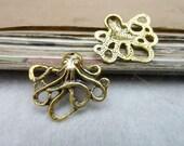 20pcs 21x24mm The Octopus  Gold Retro Pendant Charm For Jewelry Bracelet Necklace Charms Pendants C7984
