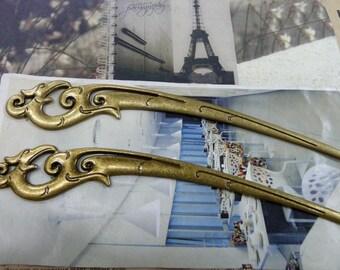 2pcs 26x162mm The Hairpin Antique Bronze Retro Pendant Charm For Jewelry Bracelet Necklace Charms Pendants C1470