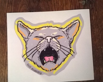 Singing Street Cat Sticker