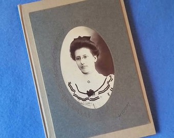 Antique Photo Journal - recycled paper with upcycled vintage portrait