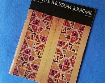 Textile Museum Journal - December 1974 - Volume IV, Number 1, vintage magazine vintage journal