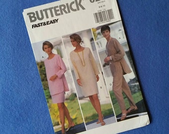 Uncut Butterick Vintage Sewing Pattern - 6206 - Misses'/Misses' Petite Pullover Dress, Tunic, Skirt, and Pants - sizes 6 8 10