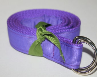 Purple Belt Kids D Ring Belt Velcro Optional