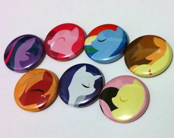 """LIMITED EDITION Little Pony Set - 1"""" Inch pins - Buttons - Pin - Badge"""