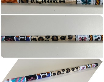 Personalized beaded wand, beaded stick, delica beads