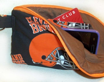 Browns Small Cell Phone Wallet
