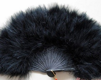 Hight Quality 5 pcs Black feather fan