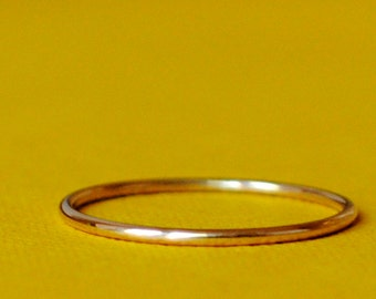 Tiny Gold Ring / Size 4 Ring / Skinny Gold Ring / Gold Band / Simple Gold Band / Gold Plated Ring /Thin Gold Ring/Teeny Ring *Gold Filled*