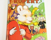 Vintage Rupert Book Ian Robinson Illustrations by John Harrold 1993 British Childrens Large Annual Hardcover itsyourcountry