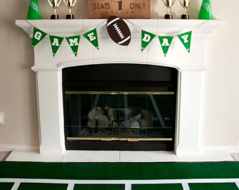 Football, Down Set Hut, Sports Theme, Game Day Birthday Party Banner