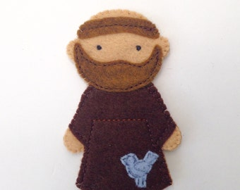 Saint Francis - Catholic Saint Toy - Finger Puppet