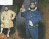 UNCUT Simplicity 9633 Men's Tudor costume pattern S M L