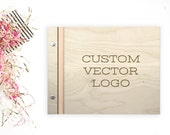 Custom Vector Logo - Laser Engave Wedding Guestbook