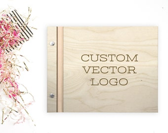 Custom Vector Logo - Laser Engave Wedding Guestbook