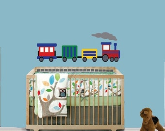 20% OFF SALE REUSABLE Train Wall Decal - Childrens Decals - B605Cwa