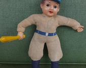 "vintage baseball celluloid doll figure 1930's Japan 8"" sports collectible memorabilia"