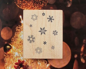 Snow Flake Background Rubber Stamp