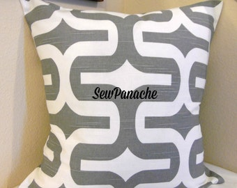 Gray Pillows, Grey and White Pillow, Throw Pillows, Pillow Covers, Ash Embrace Home Decor Pillow Cover