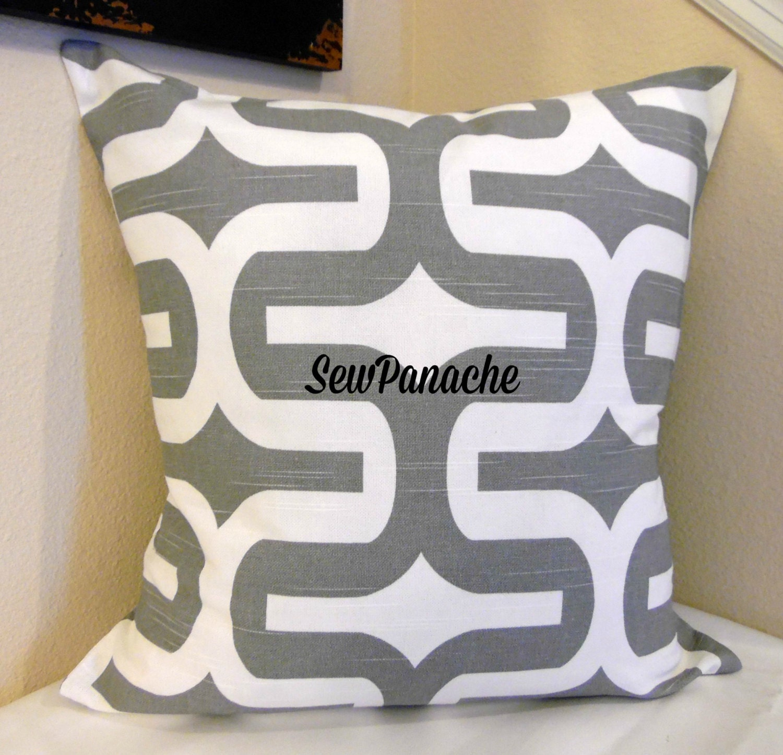 gray pillows grey and white pillow throw pillows pillow. Black Bedroom Furniture Sets. Home Design Ideas