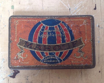 Vintage  Marouf Egyptiennes Cigarettes tin box