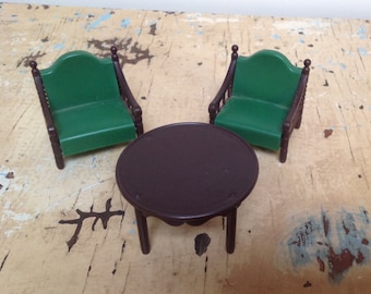 Vintage dollhouse furniture, made of plastic